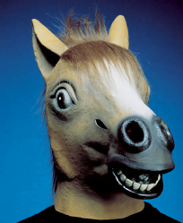 Overhead Rubber Horse Mask
